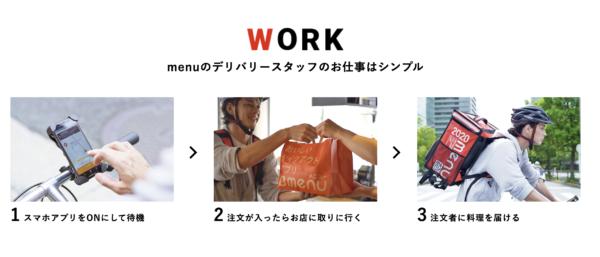 menu(メニュー)お仕事